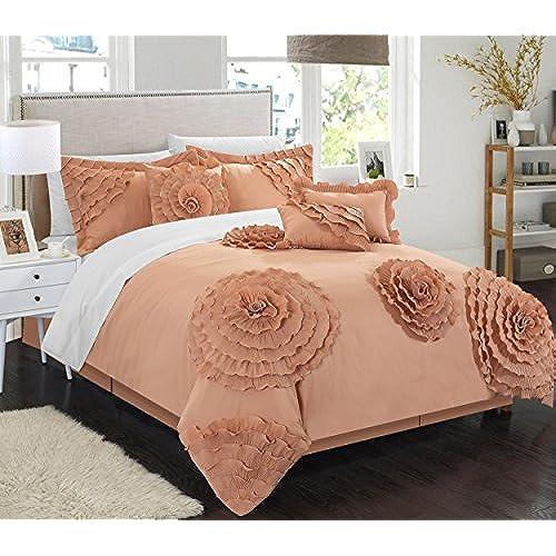 Peach Comforter Set Amazon Com