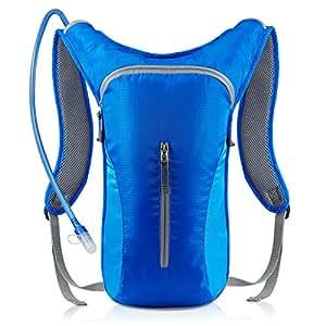 Hydration Pack Bladder Backpack,2L 2.5L 3L Liter Bag Pack - Running Cycling Hiking Leakproof Water Reservoir FDA Approved Hydration System (Blue)