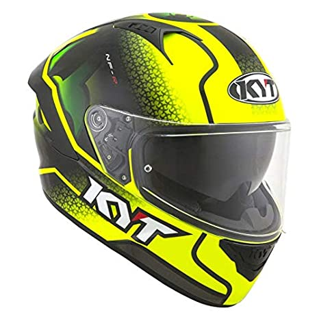 Amazon.es: KYT casco nf-r Hyper flúor Yellow - M