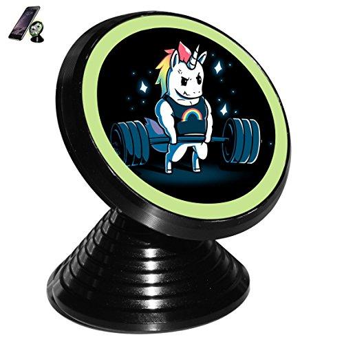 Zihoco Stylish Gym Unicorn Noctilucent Magnetic Phone Car Mount Holder - Google Isa
