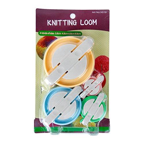 Maypluss Pompom Maker for Fluff Ball DIY Weaver Needle Wool Knitting Craft Tool Set 4 Size