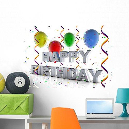 - Wallmonkeys FOT-25271937-36 WM48173 Happy Birthday Peel and Stick Wall Decals (36 in W x 26 in H), Large