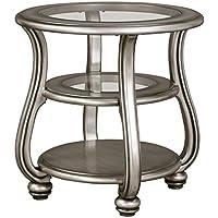 Ashley Furniture Signature Design - Coralayne End Table - Traditional Exquisite Design - Silver Finish