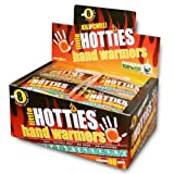 Little Hotties Hand Warmers are Heat Pads you put Inside your Gloves or Pockets and are activated by exposing to air and shaking. Heat lasts 8 hours and is biodegradable.