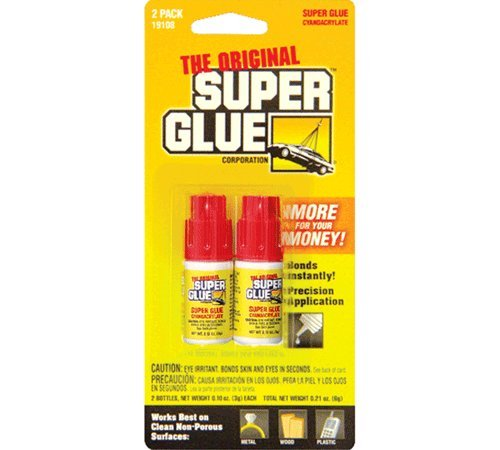 Bazic Products 19108-24 PACER 0.11 Oz - 3g Jewelry - Nail Super Glue Bottle - 2-Pack Case of 24 - 0.11 Ounce Boxes