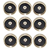Joyway 9Pcs Solid Brass Refill Propane Bottle Cap Universal for All 1 LB Gas Tank Cylinder Sealed Protect Cap