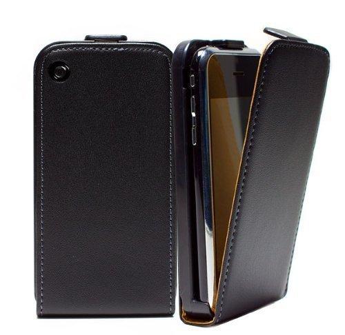 mobilefox® Apple iPhone 3G / 3GS Tasche inkl. Schutzfolie Schutz Hülle Case Etui Cover Handy Flip Bumper Smartphone Schwarz