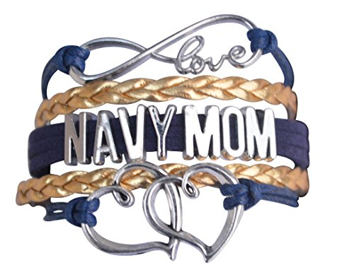 Infinity Collection Navy Mom Jewelry, Navy Mom Bracelet, Proud Navy Mom Charm Bracelet - Makes Perfect Mom Gifts