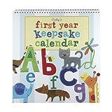 CRG Jill McDonald Kids First Year Keepsake Calendar, Alphabet Animals
