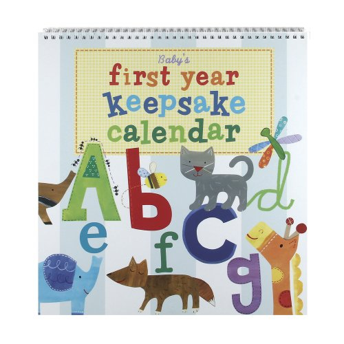 Jill McDonald Kids First Year Keepsake Calendar, Alphabet Animals ()