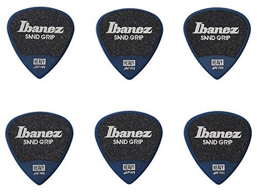 Ibanez PPA16HSG Wizard Series, Sand Grip Picks 6 Pack 1.0mm (PPA16HSGDB)