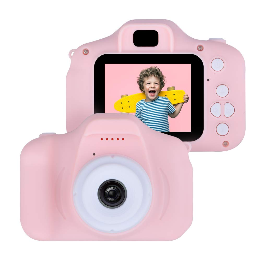 Shmily Gift for 4-12 Year Old Kids Girls, Digital Camera for Kids Toy for 3-12 Year Old Girl Boys Videocamera Toy Gifts Age 5 6 7 8 9 Boy Girl Birthday Gift for Kids Girls Pink Camera by Shmily