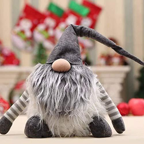 Pendant & Drop Ornaments - Santa Snowman Elk Doll Christma Ornament Favor Party Decoration Home Gift - Day Bird Noel Dame Christmastide Christmastime Dolly Yule Skirt Chick - 1PCs