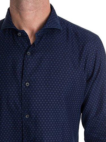 Xacus Camicia Uomo 71513716001 Cotone Blu