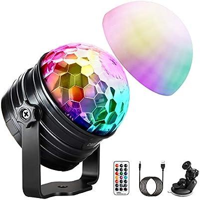 LED Discokugel Lichteffekt RGB DJ Party Lichtorgel Bühnenbeleuchtung 7 Farben DE
