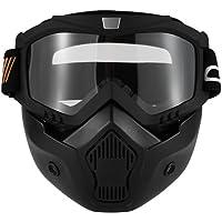 KKmoon Gafas Desmontable Máscara del Moto Filte