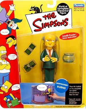 (Playmates - The Simpsons - World of Springfield Interactive Figures - Series 1 - Montgomery Burns figure w/custom)
