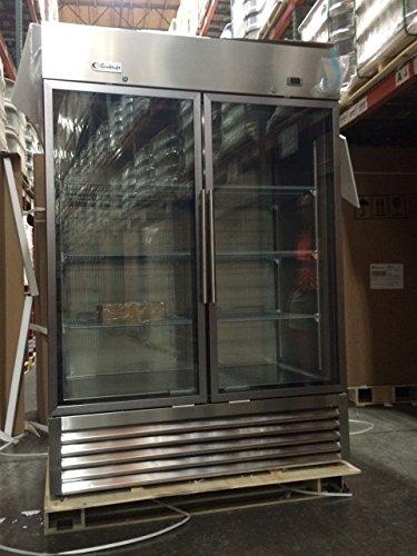 Genkraft Commercial Refrigerator Double Glass Door 49 Cuft For