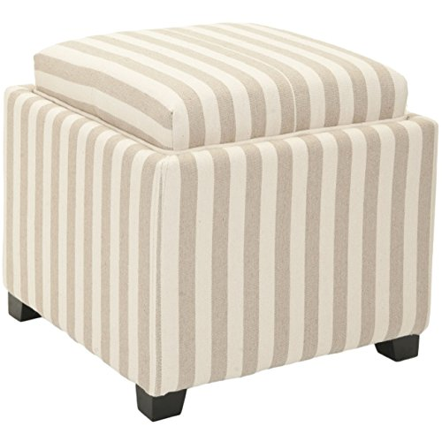 Safavieh Hudson Collection Harrison Cream & Tan Stripe Single Tray (Hudson Chair Living Room Chair)