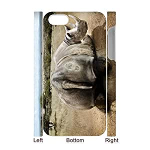 3D Bumper Plastic Case Of Rhinoceros customized case For iPhone 5 5s
