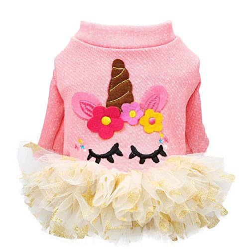 Nlyefa Pet Winter Clothes for Dogs Lovely Christmas Sweater Princess Pettiskirt Cotton Knit Warm Puppy Dresses]()