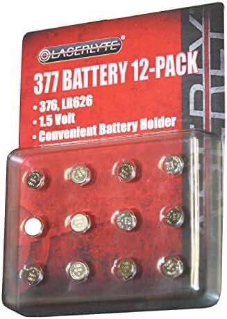 Laserlyte 377 Batteries 12 pack BAT-377