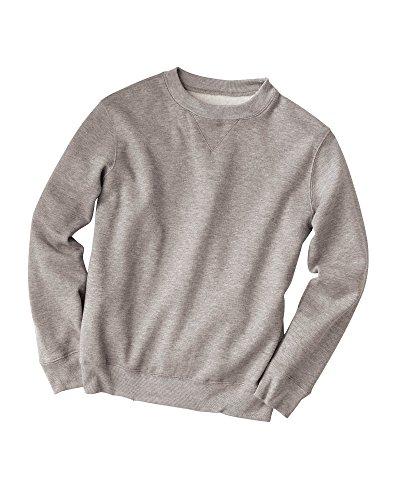 (National Fleece Crewneck Sweatshirt, Heather Gray, Medium)
