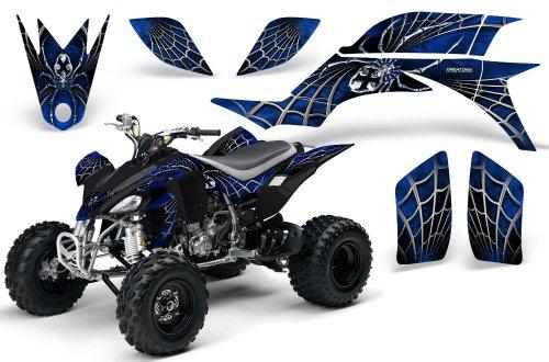 CreatorX Yamaha Yfz 450 Atv Graphics Kit Decals Stickers SpiderX Blue