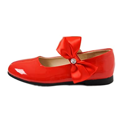 d66f86abb58d6 TeraSeven 2016 Girls Big Bow Mary Jane Shoes Strap School Shoes Party  Wedding Princess Velcro Sandals
