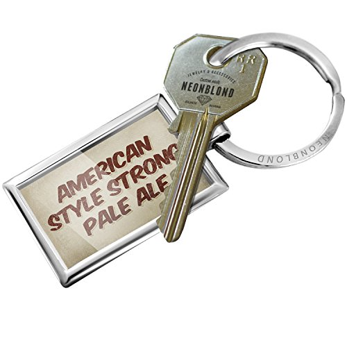 Keychain American Style Strong Pale Ale Beer, Vintage style - NEONBLOND