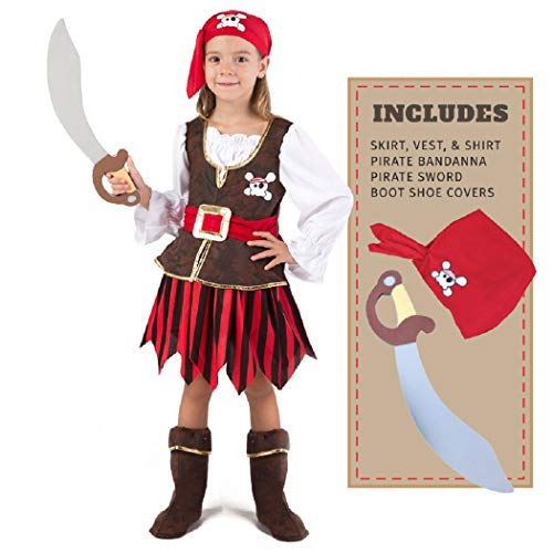 Spooktacular Creations Deluxe Pirate Girl Costume Set (T(3-4)) (Toddler) -