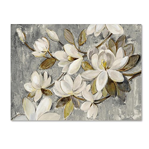 (Magnolia Simplicity Neutral Gray by Silvia Vassileva, 24x32-Inch Canvas Wall Art)