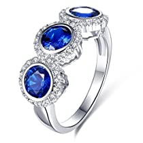 Lady's Rings AAA Cubic Zirconia Rhodium Plated Ring Party ClubFashion Jewelry Mother s Day Gift Size 8