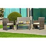 Amazoncom Wicker Patio Furniture Sets Patio Furniture