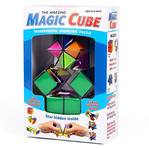 The Amazing Magic Cube Transforming Geometric Puzzle (2 piece): Puzzle Toy, Sensory Toy, Fidget Cube, Fine Motor Skills Toy, Star Cube Puzzle, Magic Cube, Novelty Gift, ADHD, ADD, Fun Gift