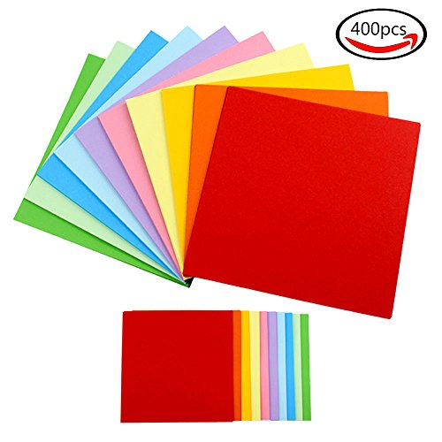 JPSOR 400 Sheets Double Sided Origami Paper (200 Sheets 6.3