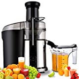 MeiLiMiYu Juicer Extractor Lemon Juicer Fruit Machine Electric Juicer 850 Watts Fruit Centrifugal Juicer Fruit and Vegetables Extractor High Speed Stainless Steel Dual Speed Setting
