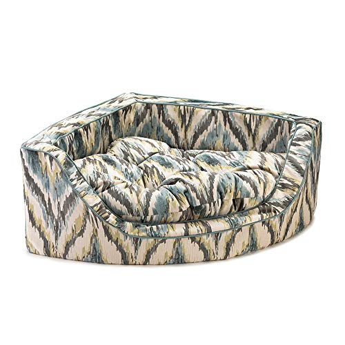 Snoozer Pet Products - Luxury Overstuffed Corner Dog Bed with Microsuede - Show Dog Collection | Large - Tempest Spring