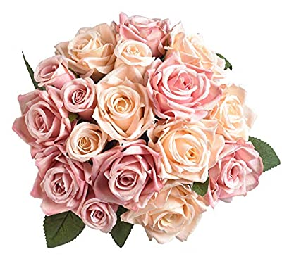 Furnily Rose Artificial Flower 2 Bouquet …