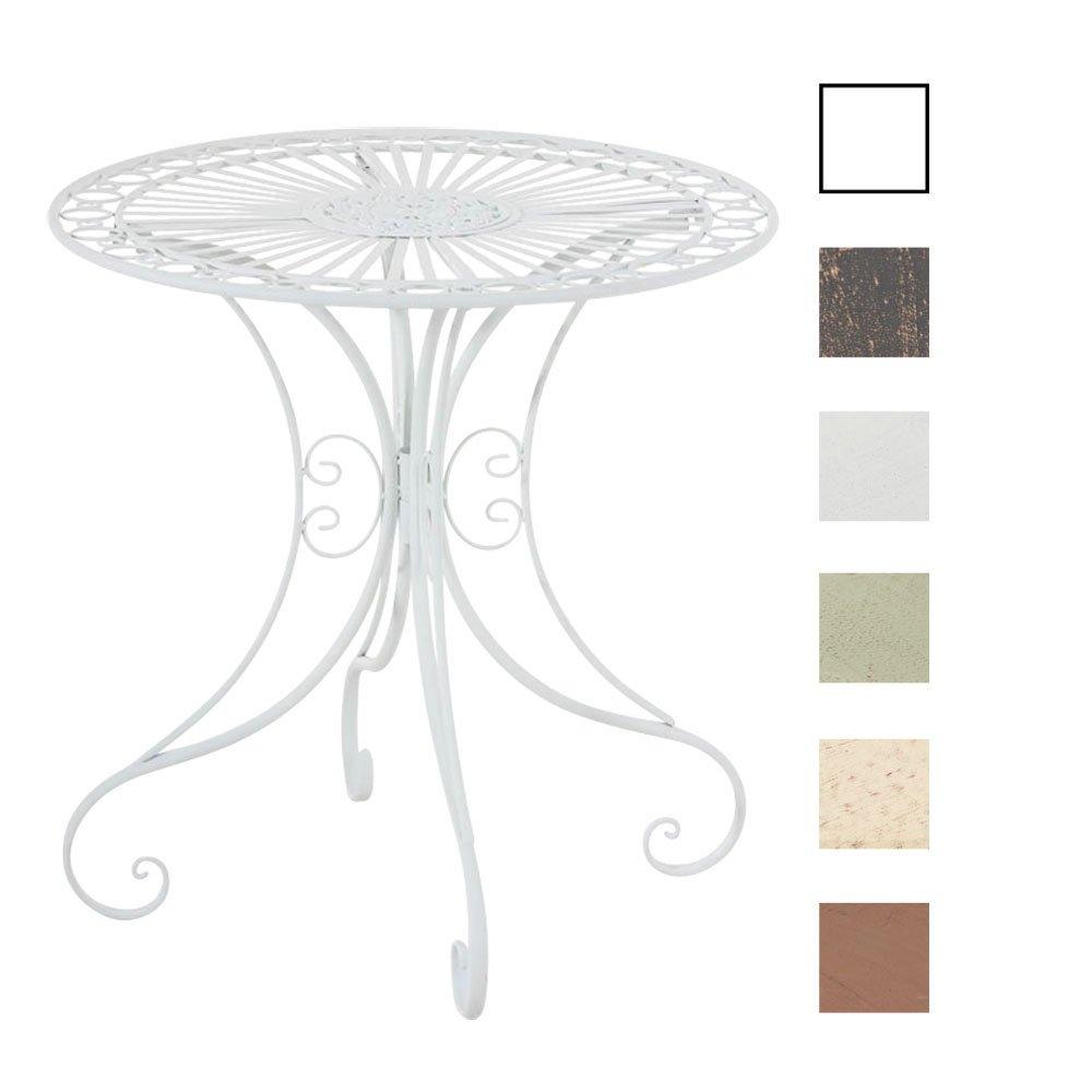 CLP Eisentisch Hari im Jugendstil I Gartentisch mit kunstvollen Verzierungen I erhältlich Weiß
