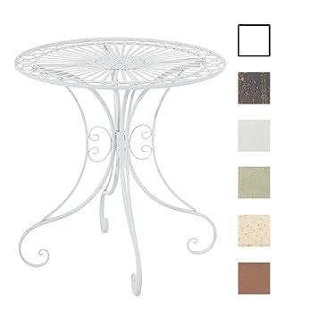 CLP Table de Jardin en Fer Forgé HARI - Table de Terrasse au Style ...