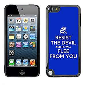 Paccase / Dura PC Caso Funda Carcasa de Protección para - BIBLE Resist The Devil - Apple iPod Touch 5