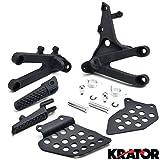 Krator® Honda CBR 600RR 2007-2014 (Front) Foot Rests Assembly Kit Stay Step Brackets Frame Fitting Stay Footrests Step Bracket Assembly