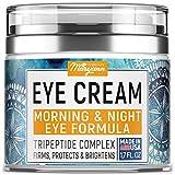 MARYANN Organics Eye Cream - Natural Formula with Hyaluronic Acid, Vitamin E & Aloe Vera - Made in USA - Anti Aging Cream for Women - Reduce Dark Circles, Puffiness, Under Eye Bags, Wrinkles - 1,7 OZ
