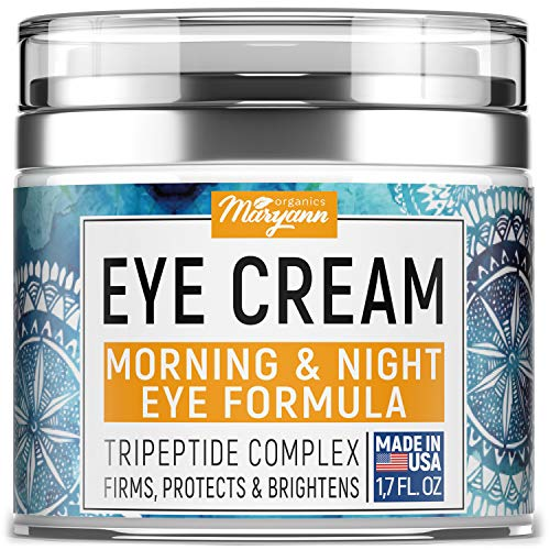 MARYANN Organics Eye Cream - Natural Formula with Hyaluronic...