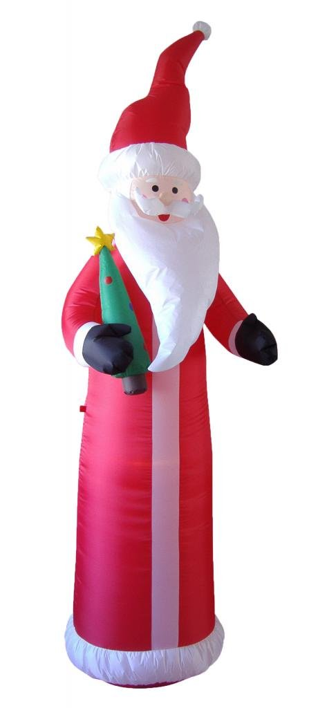 9 Foot Christmas Inflatable Santa Claus with Christmas Tree Yard Decoration