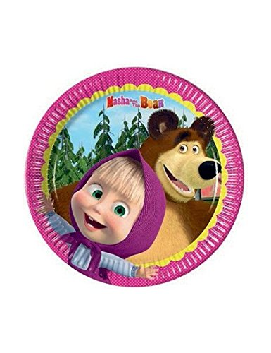 Masha and The Bear Small Party Plates (Pack of 8) by Procos