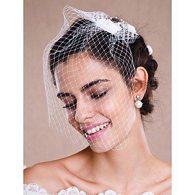 FUNAN Veli da sposa 1 strato Veletta Velo per capelli corti Accessori per  capelli con velo 68ff9aa3748c