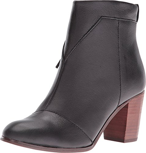 TOMS Women's  Black Leather Leather Lunata Bootie - 7 B(M) US