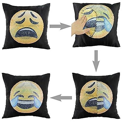 yuanes DIY sirena lentejuelas funda de almohada reversible ...